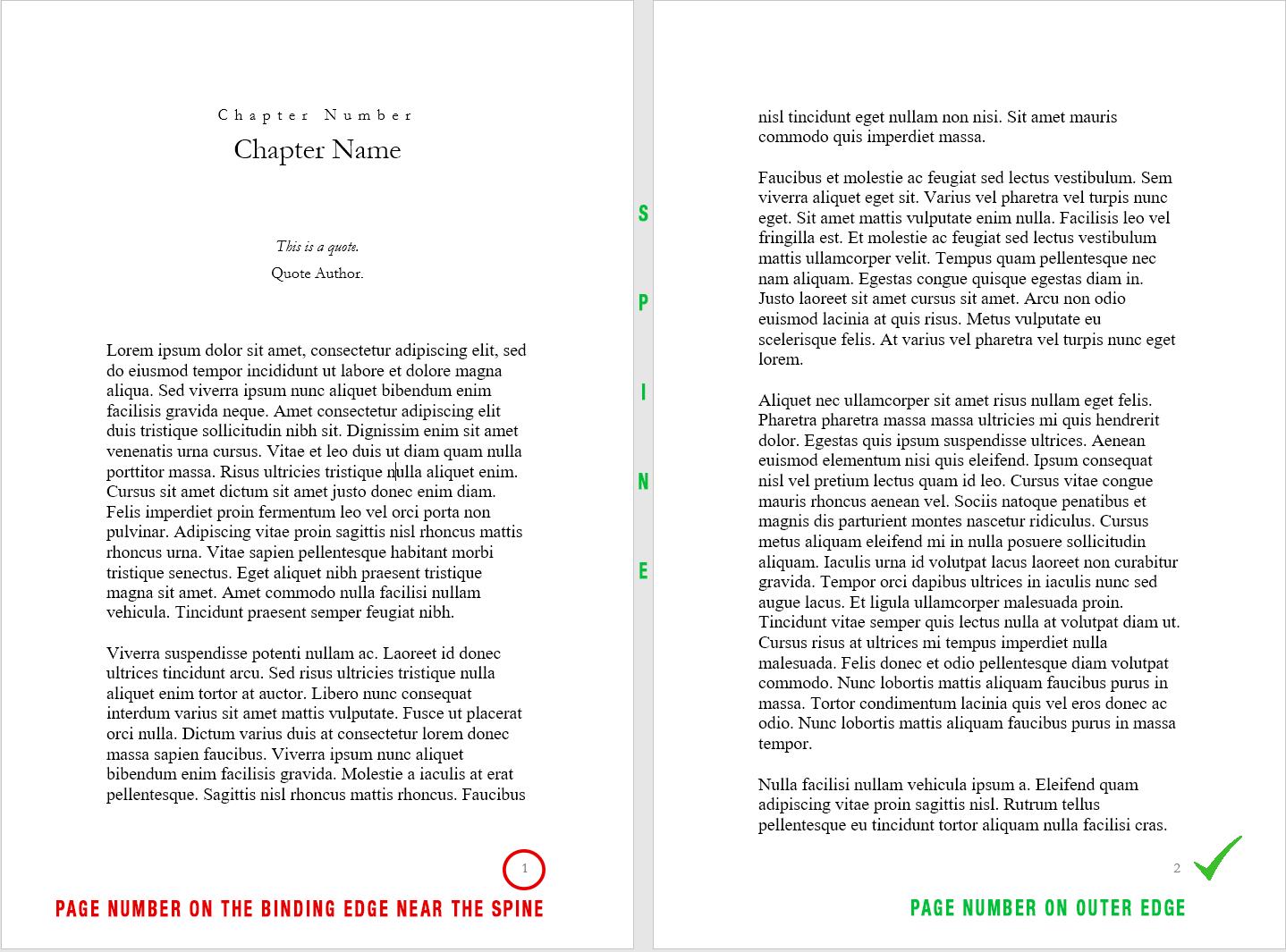 book printing page numbers 1