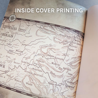 inside book cover printing
